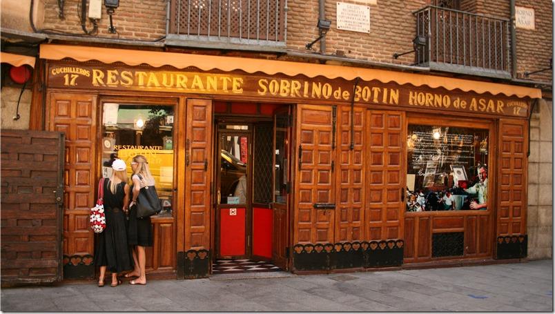 Curiosidades Madrid - Restaurante mas antiguo