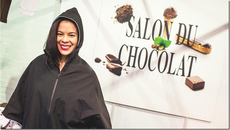 Venezuelan journalist, Helen Lopez during her visit to The Chocolate Show, Third Edition at Olympia National in London, Oct. 17, 2015 (Photos/Ivan Gonzalez)
