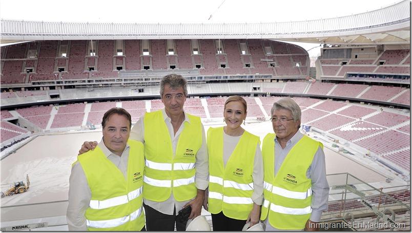 CIFUENTES visita el Estadio WANDA METROPOLITANO Foto. D. Sinova