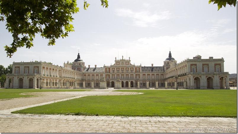 Vista general de el Palacio Real de Aranjuez.