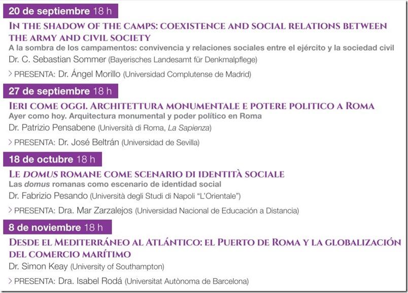 Conferencias sobre la historia de Roma en Madrid - 1