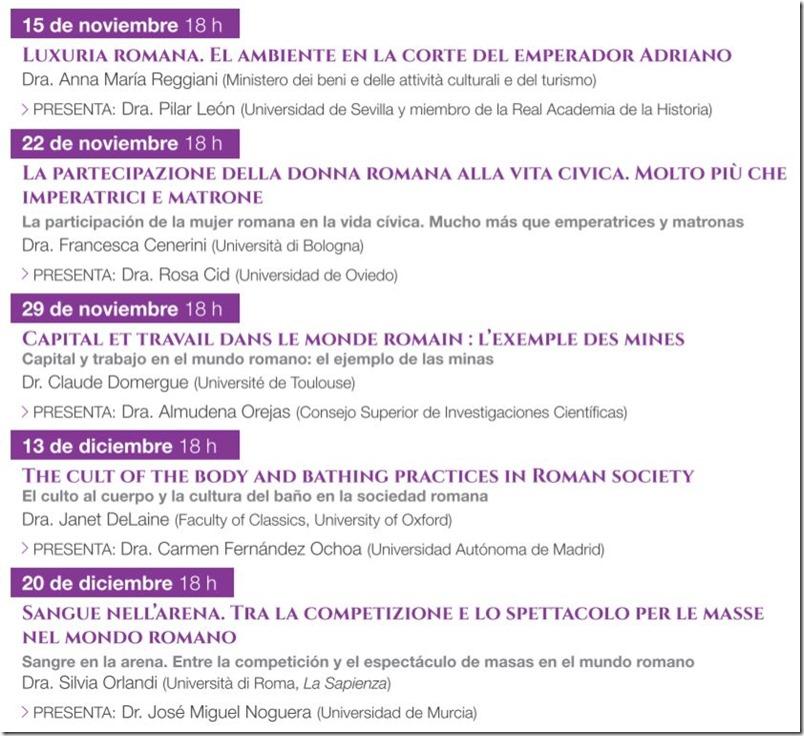 Conferencias sobre la historia de Roma en Madrid - 2