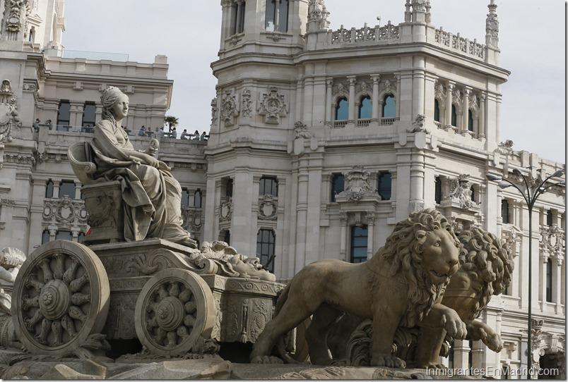 La fuente de la diosa Cibeles, uno de los iconos de la ciudad de Madrid. EFEPaco Campos