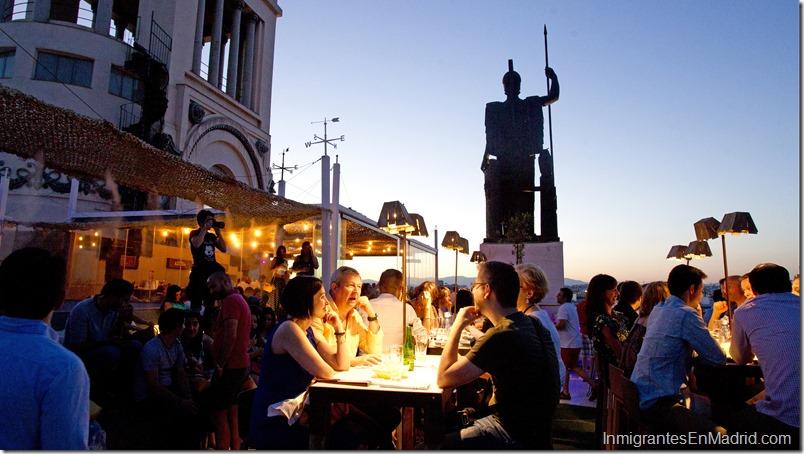 Vista de la terraza del C'rculo de Bellas Artes situada en la calle Alcal‡ en Madrid.