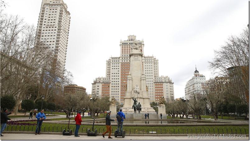 Vista de la Plaza de España, en Madrid.  EFEJ.J. Guillén