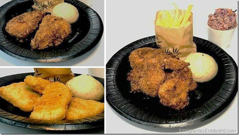 Platos principales (pollo frito) Helados en Chicken Guay en Madrid