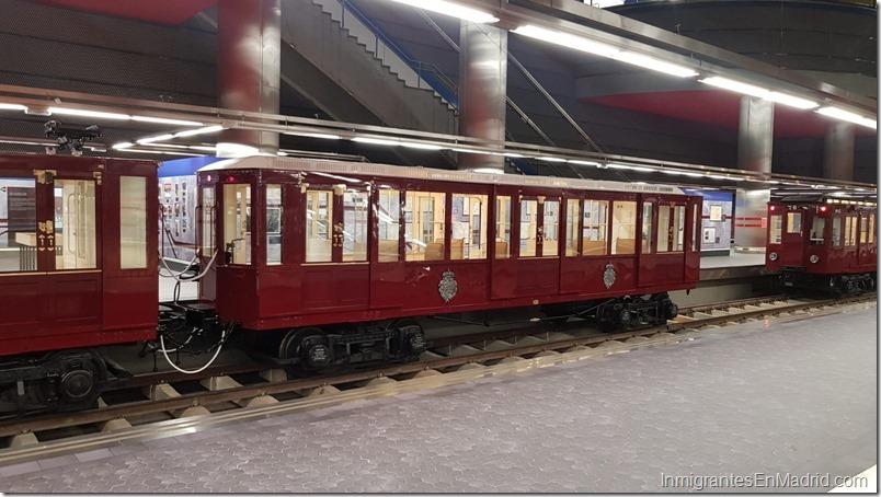 Exposición de trenes antiguos del Metro de Madrid en Chamartín 291018-6