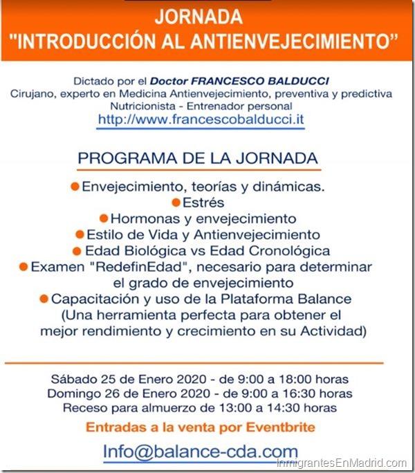Jornada antienvejecimiento Madrid 2